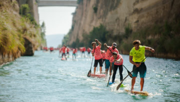 8th Corinth Canal SUP Crossing 2018