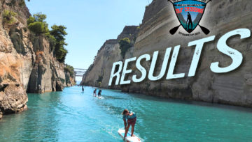 """Results of """"9th Corinth Canal SUP Crossing 2019"""